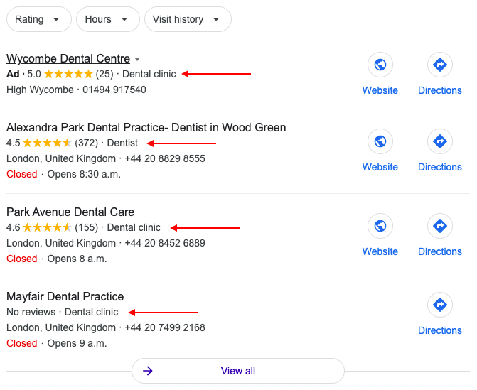 Primary Categories in GMB   Local SEO from Experdent